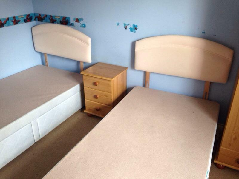 2 X Single Divan Beds With Headboards And Drawers United Kingdom Gumtree