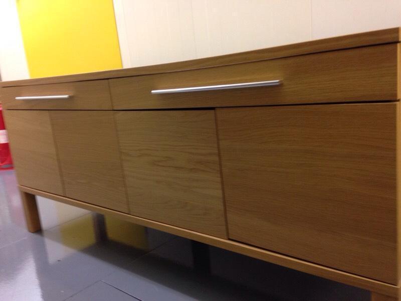 ikea bjursta sideboard oak veneer united kingdom gumtree. Black Bedroom Furniture Sets. Home Design Ideas