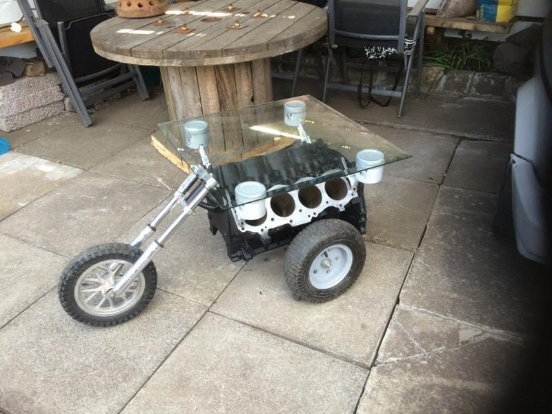 Man Cave Items For Sale Gumtree : V engine coffee table motorbike buy sale and trade ads