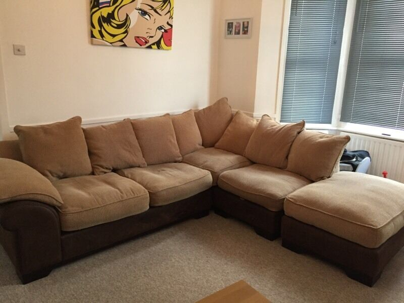 Large L Shaped Brown Sofa For Sale United Kingdom Gumtree