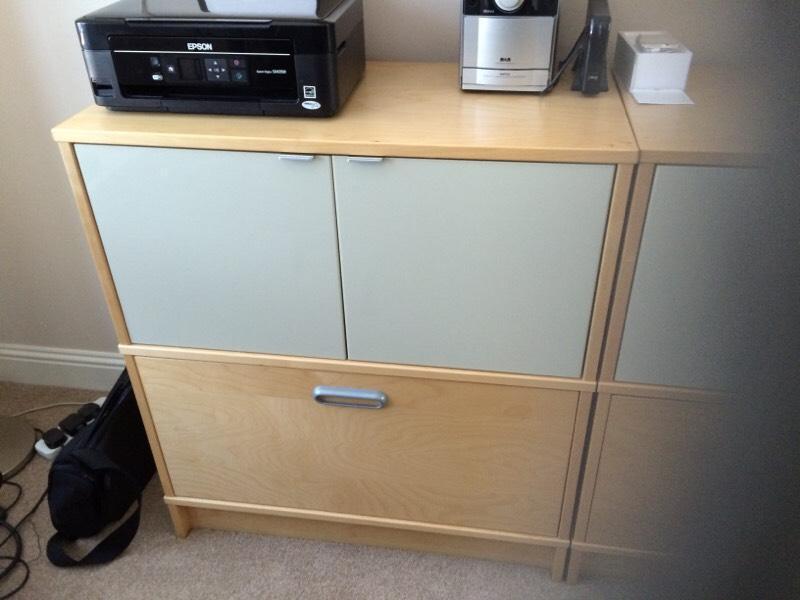 ikea office storage filling cabinets x 2 united kingdom gumtree