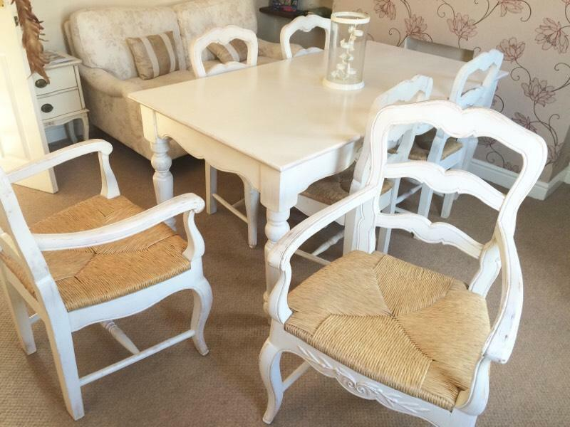 Barker And Stonehouse Romance Farmhouse Dining Table And Chairs Shabby Chic L