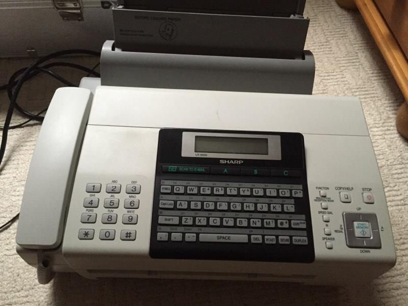 fax machine spam