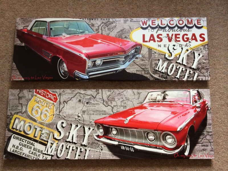Las Vegas Canvas Two Canvas Picture Wall Art Both 90cm L And 30cm W 6 Each Or Both For 10