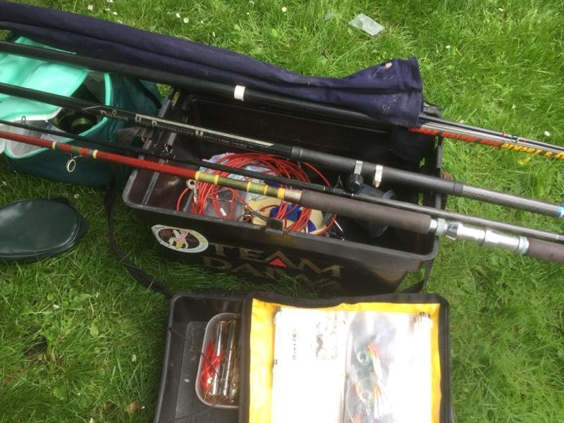 Various daiwa sea fishing rods and tackle for sale for Fishing equipment for sale