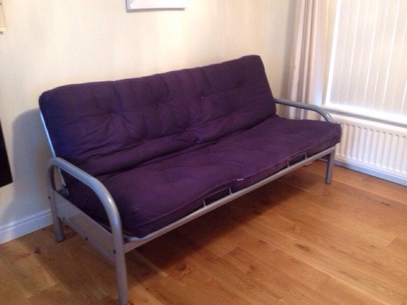 Metal frame futon sofa bed with mattress united kingdom for Metal frame futon sofa bed