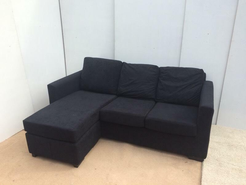 Dark Blue Dfs Corner Sofa With