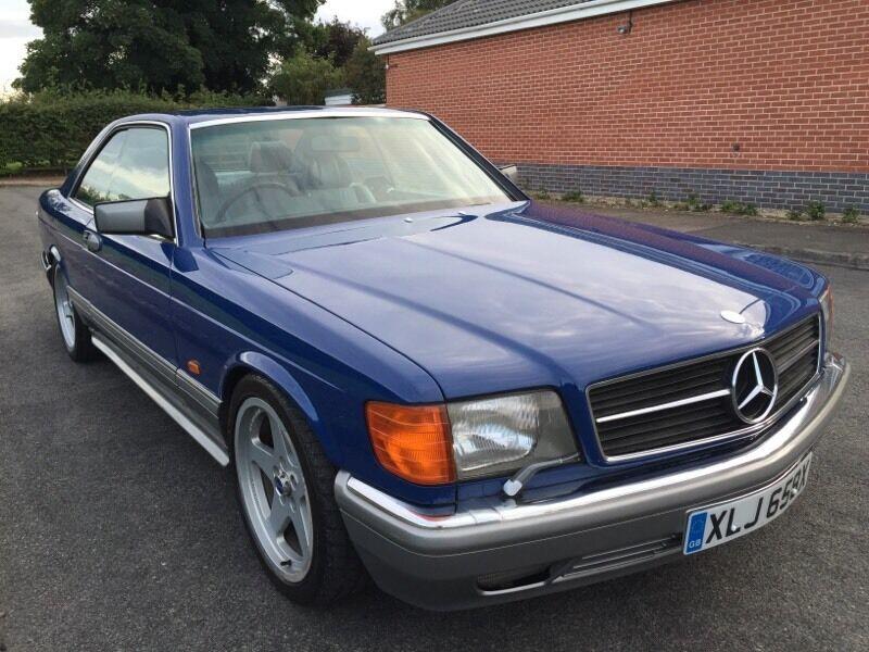 1981 Mercedes 500 Sec Amg W126 In Lapis Blue On Logbook As