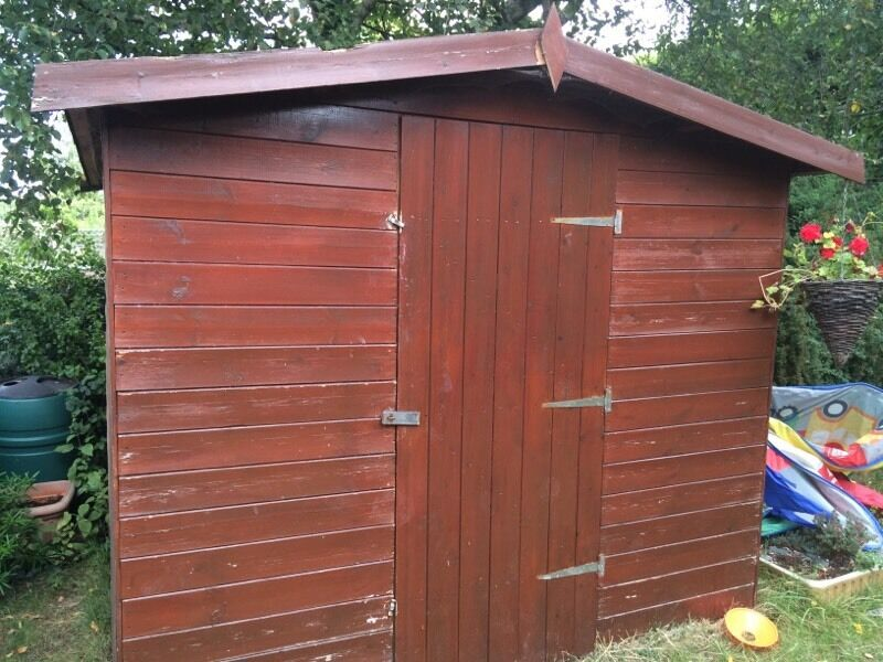 8x8 approx wooden shed good condition united kingdom for Garden shed 8x8