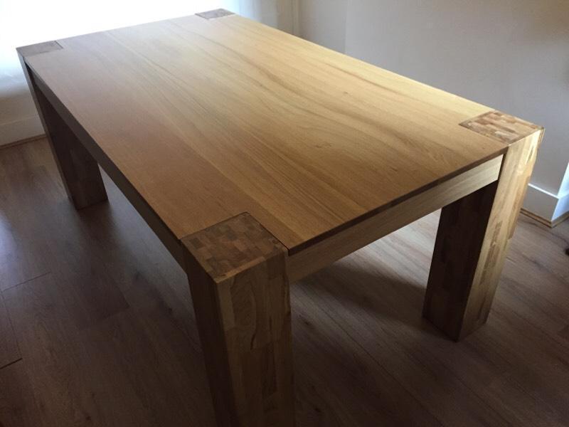 Solid oak dining table United Kingdom Gumtree : 86 from www.gumtree.com size 800 x 600 jpeg 36kB