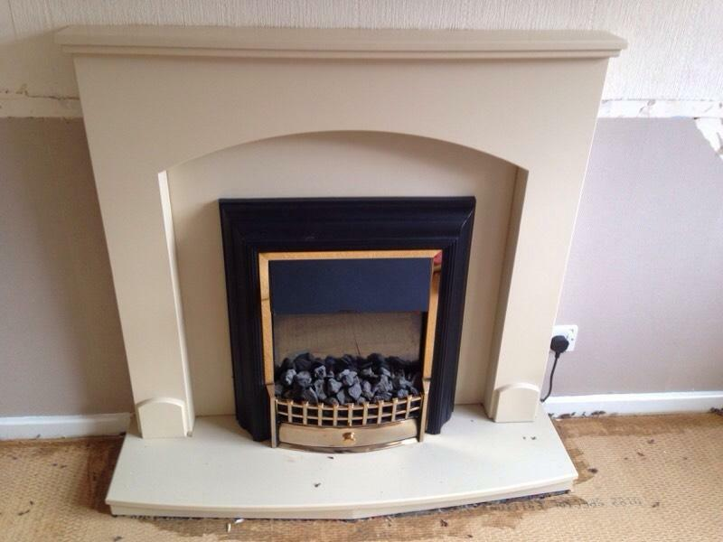Neutral Fire Surround And Electric Fire United Kingdom