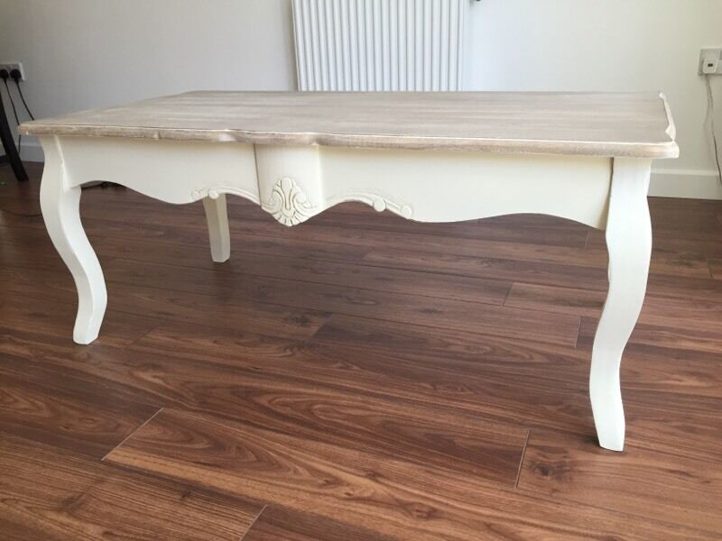white shabby chic coffee table images
