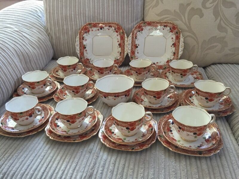 melba bone china tea service set united kingdom gumtree. Black Bedroom Furniture Sets. Home Design Ideas