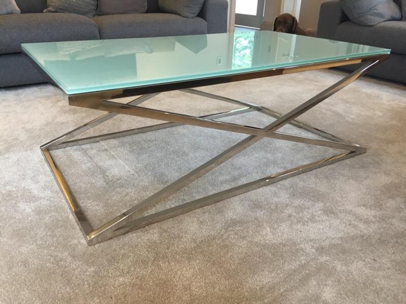 Glass and steel coffee table 120x70x44cm United Kingdom  : 86 from www.gumtree.com size 800 x 600 jpeg 71kB