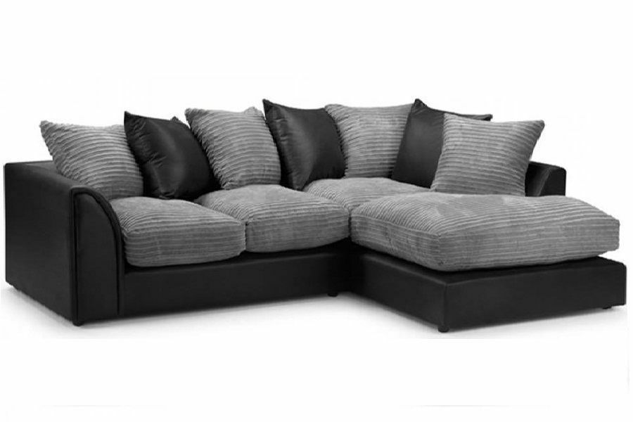 7 Day Money Back Guarantee Byron Jumbo Cord Corner Sofa Suite Same Next Day Delivery