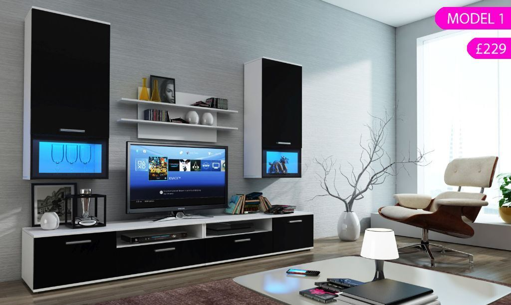 TV Cabinet TV Wall Unit TV Stand With LED 39 S Modern Living Room Fur