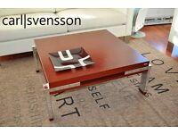 couchtisch rack design bauhaus chrom klassiker schwarz in. Black Bedroom Furniture Sets. Home Design Ideas