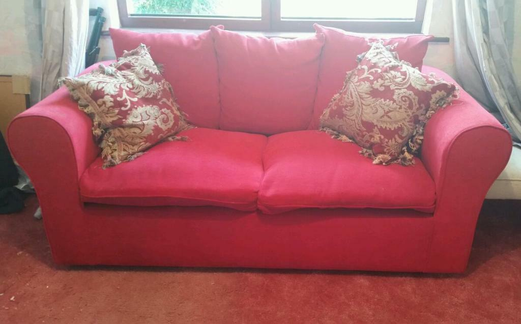 Red Chenille Sofa Bed From Keens United Kingdom Gumtree