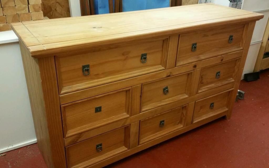 Pine Furniture Sideboard Bedside Unit Chest Of Drawers