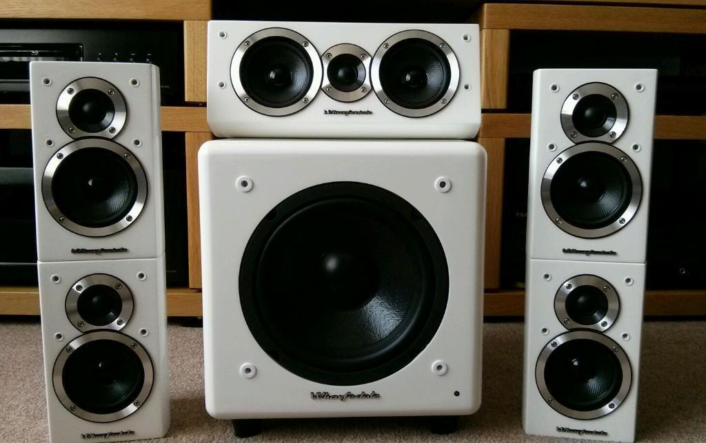 wharfedale 5 1 surround sound speakers united kingdom gumtree. Black Bedroom Furniture Sets. Home Design Ideas