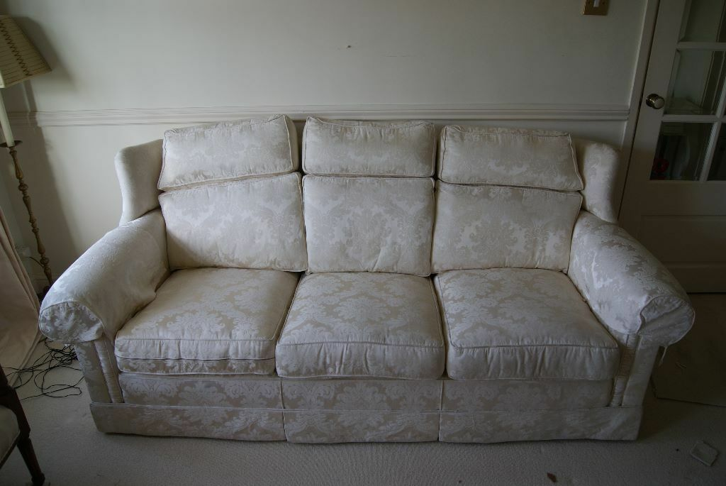 Cream loose cover 2 seater sofa buy sale and trade ads for Sofa cover for sale high quality and simple design
