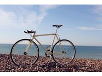 Vintage Cream Steel Frame Single speed road bike fixed gear racing fixie bicycle Jay175