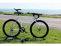 Free Customize Pear White Steel Frame Single speed road bike fixed gear racing fixie bicycle Jay175