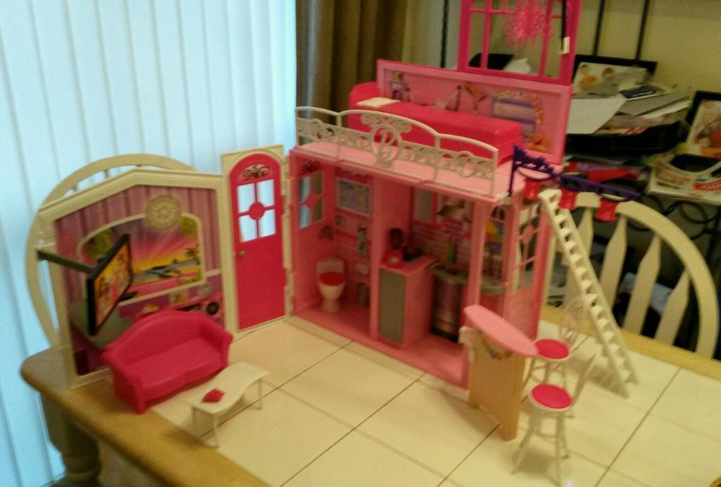 Fold Away House Barbie House Barbie Fold