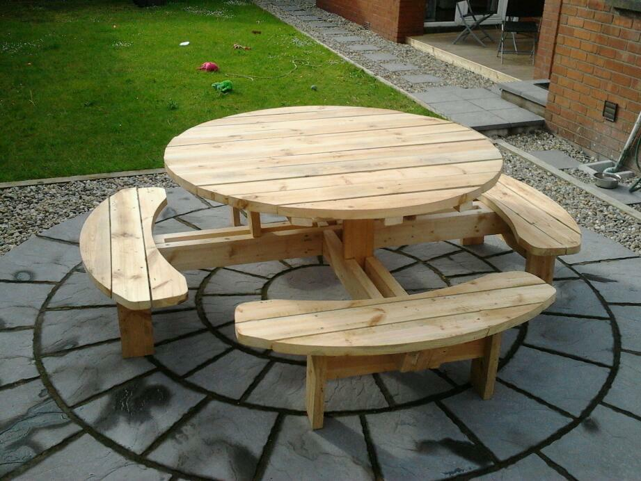 Picnic Tables Ireland Round Picnic Tables Wooden