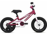 "(1732) 12"" Lightweight Aluminium SPECIALIZED Girls Bike/Bicycle+STABILISERS; Age:2-4;Height:80-100cm"