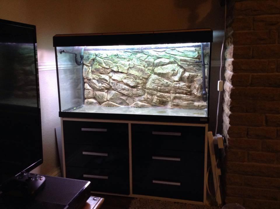 200l fish tank aquarium 3d background fluvial roma fluval for Aquarium 200l