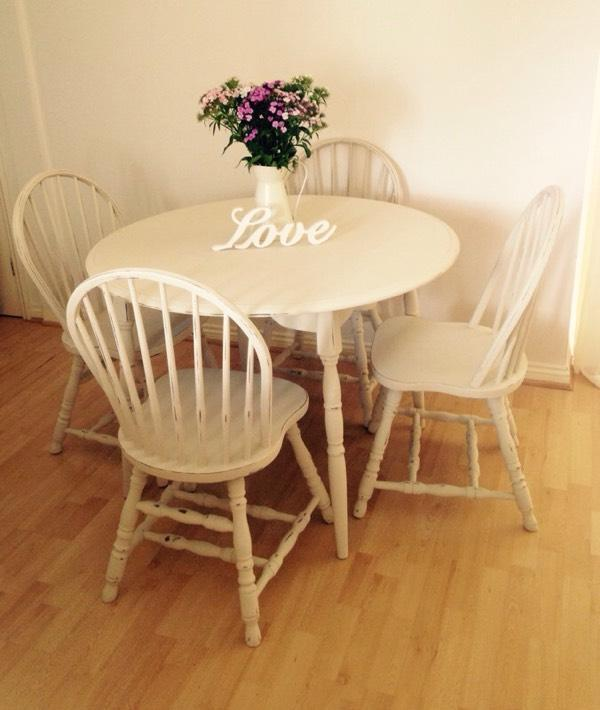 Shabby chic country cottage dining table and chairs united kingdom gumtree - Shabby chic dining table sets ...