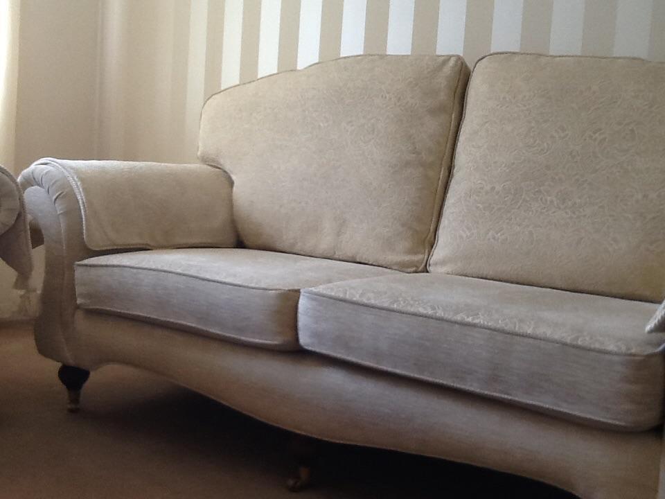 Cream Settee Sofa And Matching Armchair United Kingdom