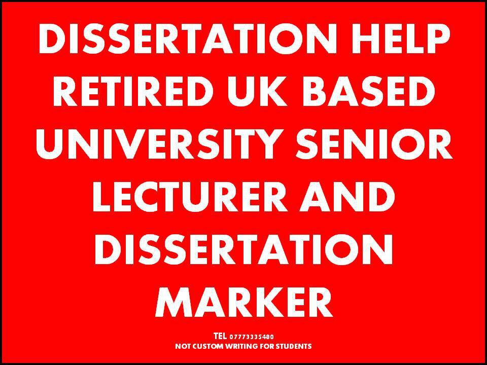 Dissertation proposal bsc hons
