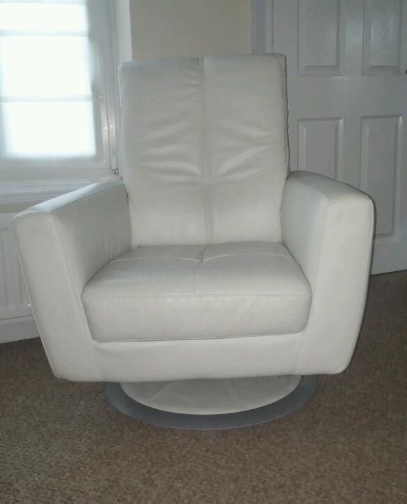 leather swivel chair white united kingdom gumtree