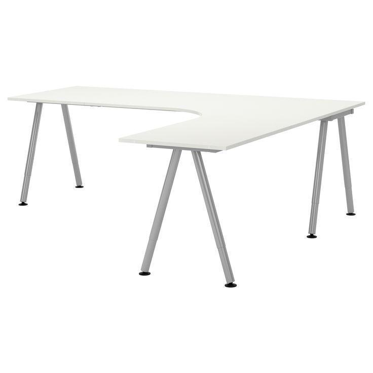ikea galant desk with extension a frame white united