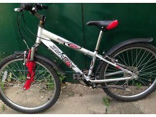 24 inch wheels Raleigh aluminium lightweight Bike ages 9 10 11 12 years Junior kids boys bicycle