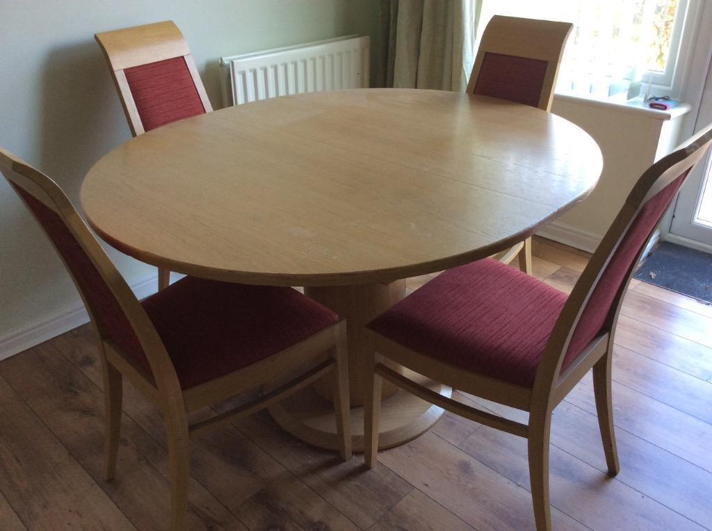 Extending Dining Room Table And 4 Chairs United Kingdom Gumtree