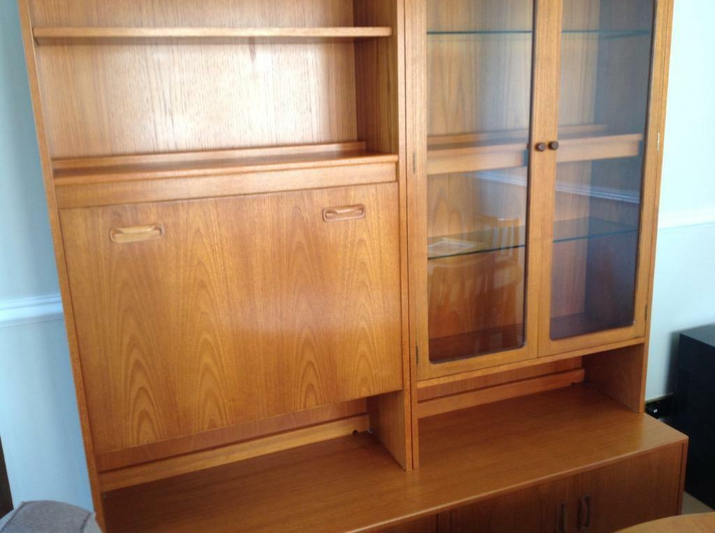 G plan unit with drink and display cabinet in immaculate for G plan dining room unit
