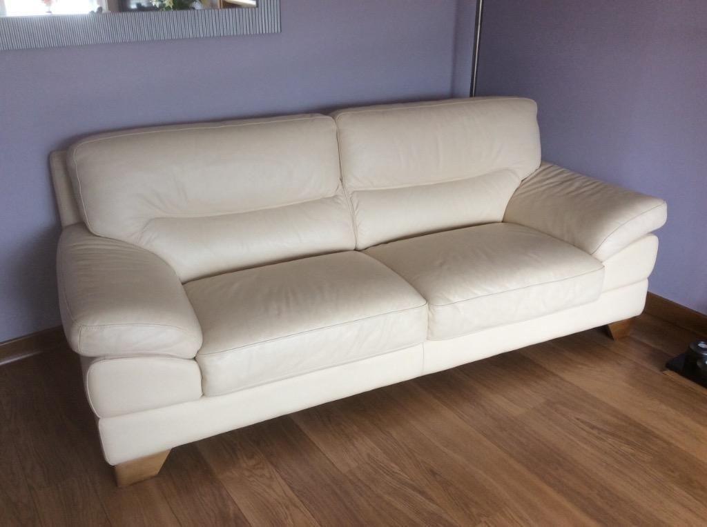 Dfs Italian Cream Leather Suite United Kingdom Gumtree