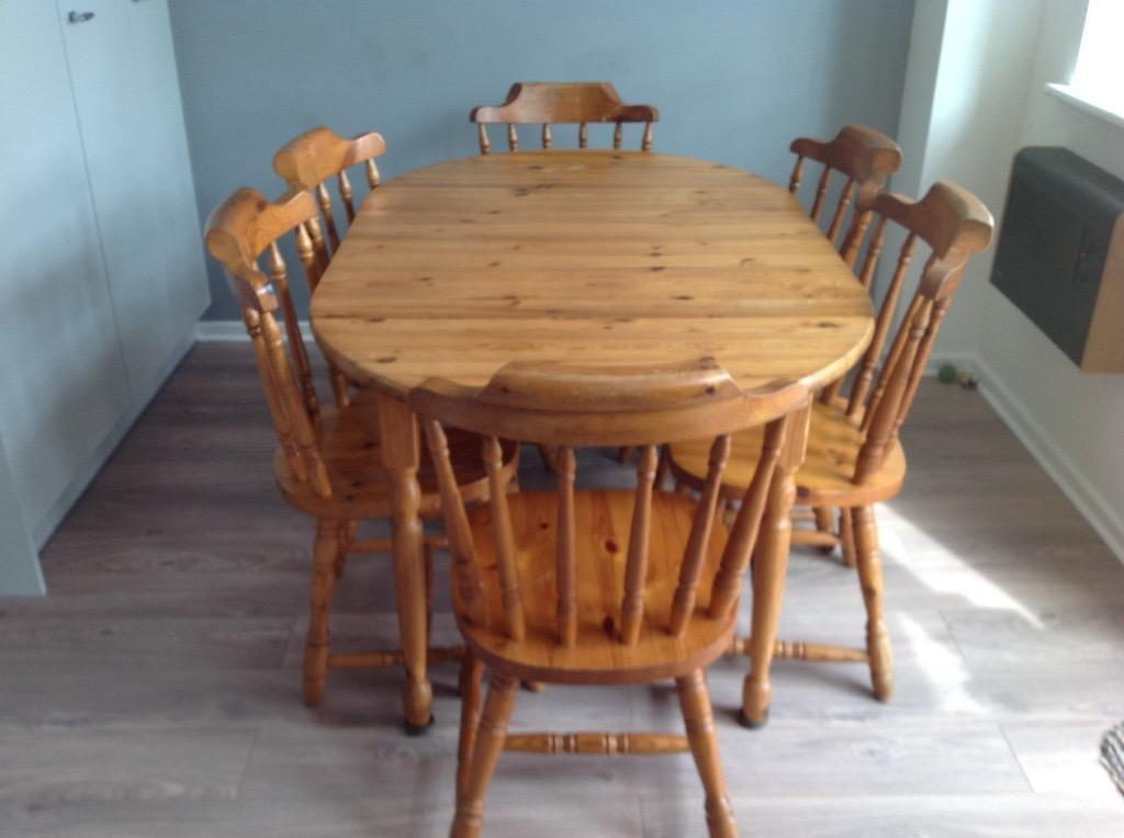 solid pine dining table and six chairs extends seats 8 10 united