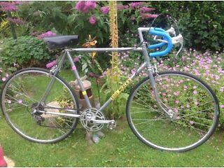 "Vintage retro Harry hall eddy Merckx 5 speed road racer 23"" chrome"