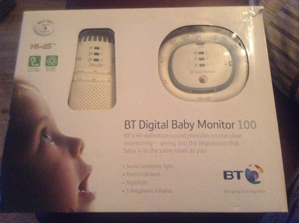 bt digital baby monitor 100 immaculate working all boxed baby monitor with instructions night. Black Bedroom Furniture Sets. Home Design Ideas