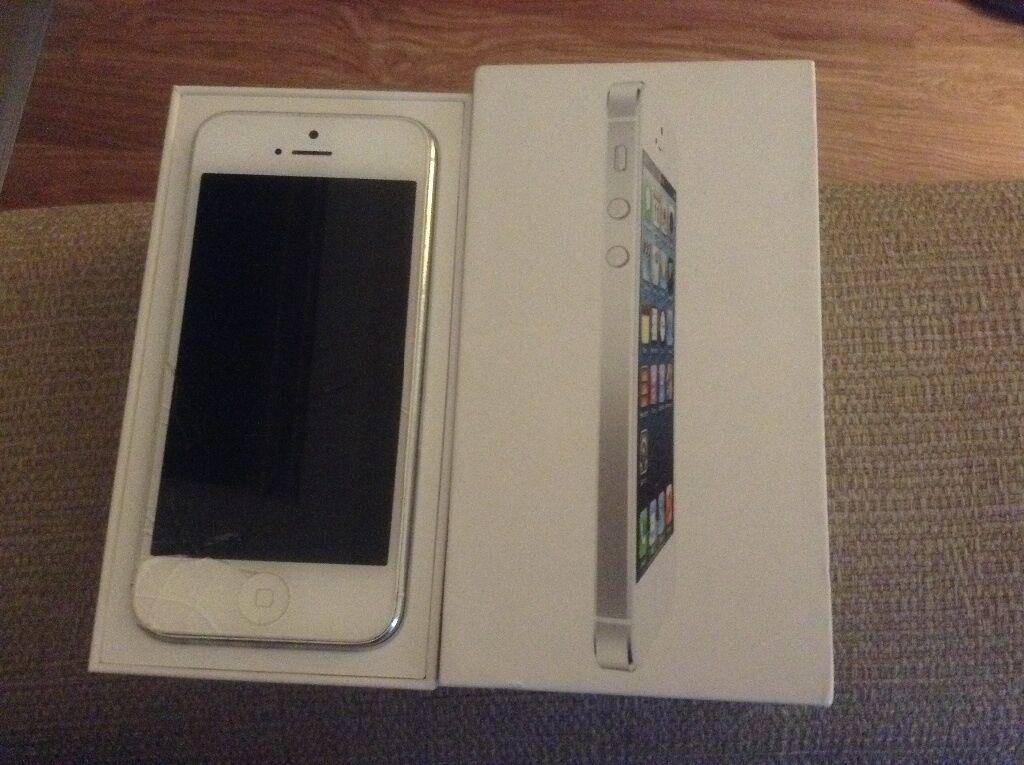 Iphone 5 16gb Box Apple Iphone 5 16gb White
