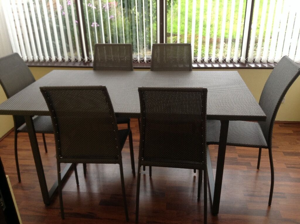 Next Patio Dining Table And 6 Chairs Hardly Used Bought Brand New June 2015 United Kingdom
