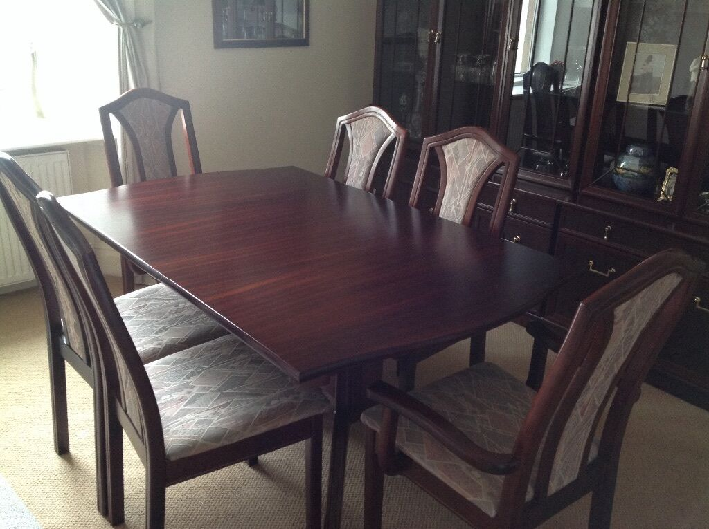 dining table set with display unit
