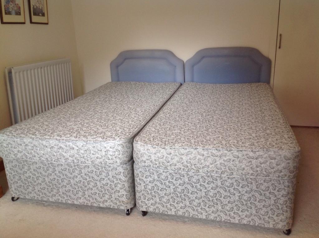 Twin single divan beds united kingdom gumtree for Twin divan beds