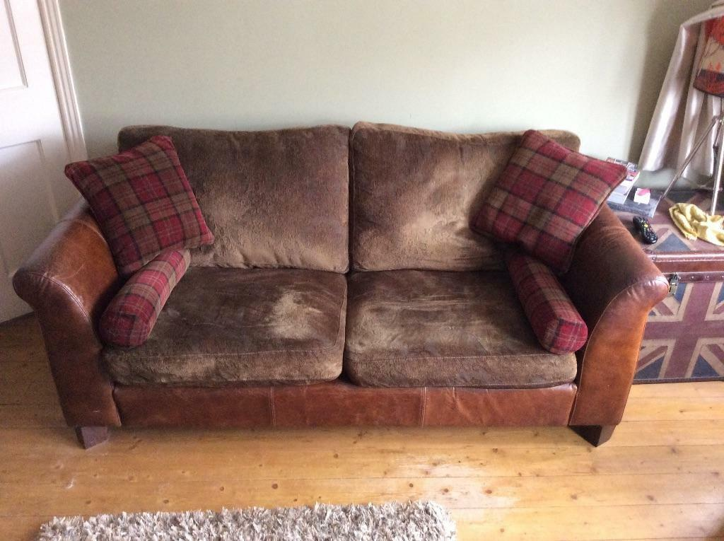 Further reduction for quick sale 3 seater cuddler sofa for Fabric couches for sale
