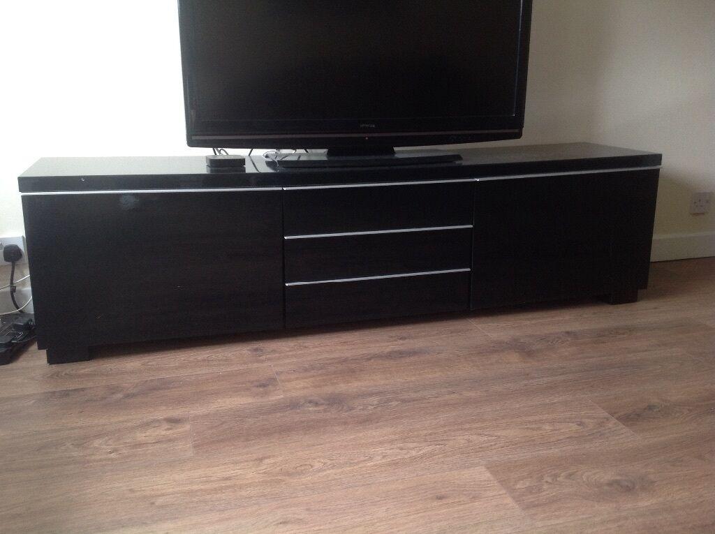 High Gloss tv Unit Grey Black High Gloss tv Unit