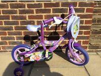 """Disney Faries 10"""" Kid Bike With Stailisers"""